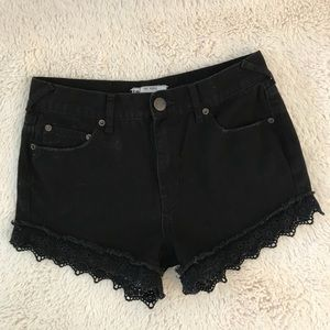 Free People Lace Shorts Size 26